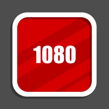 1080 icon. Flat design square internet banner. Stock Photo