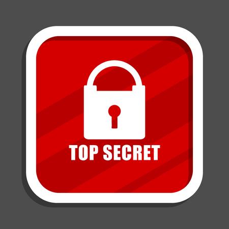 Top seret icon. Flat design square internet banner. Stock Photo