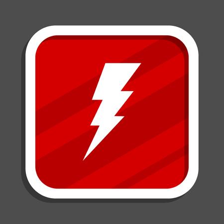 Bolt icon. Flat design square internet banner. Stock Photo