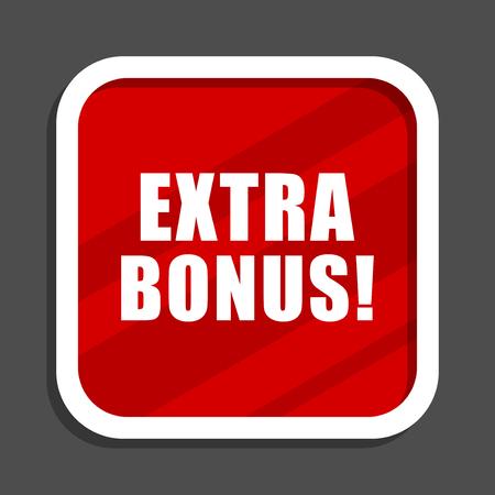 Extra bonus icon. Flat design square internet banner.