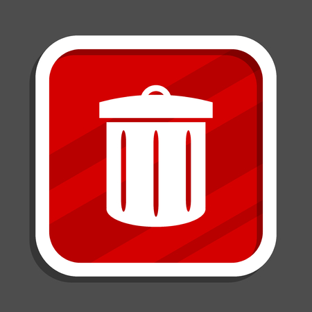 Recycle icon. Flat design square internet banner.