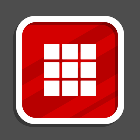 Thumbnails grid icon. Flat design square internet banner.