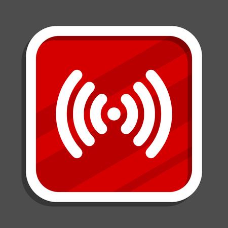 Wifi icon. Flat design square internet banner.