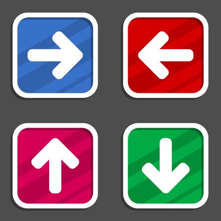 Arrow vector icon set