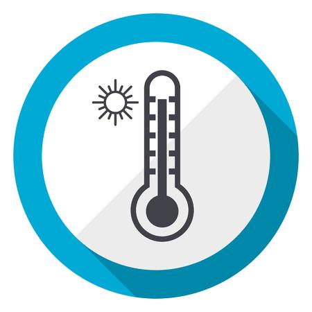 Hot temperature blue flat design web icon