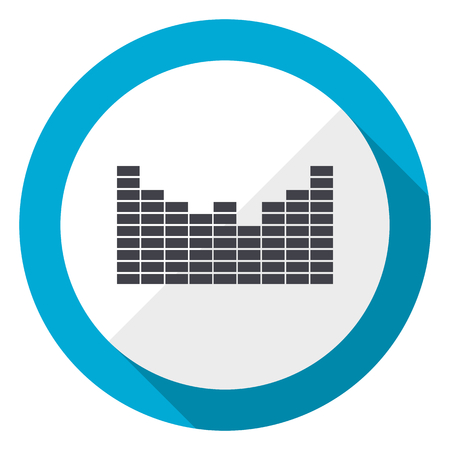Sound blue flat design web icon Standard-Bild