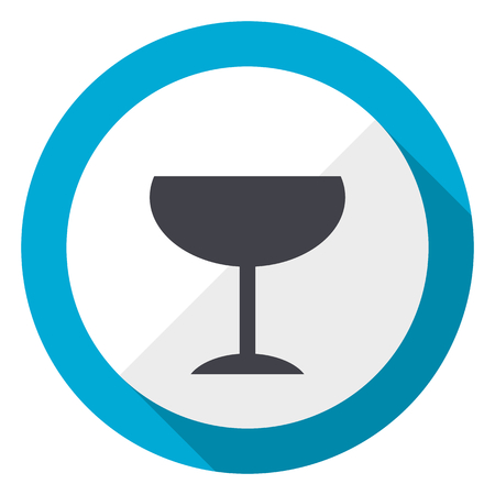 Alcohol  blue flat design web icon