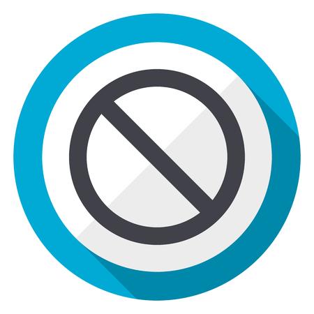 Access denied blue flat design web icon
