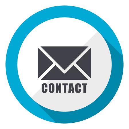 E-Mail-blaue flache Design-Web-Ikone