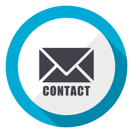 Correo electrónico azul diseño plano icono web