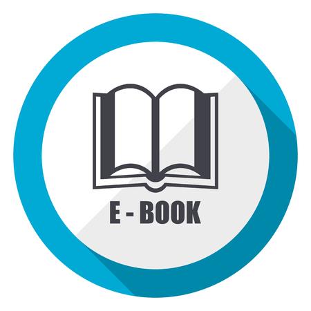 Book blue flat design web icon