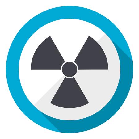 Radiation blue flat design web icon Stockfoto - 96973570