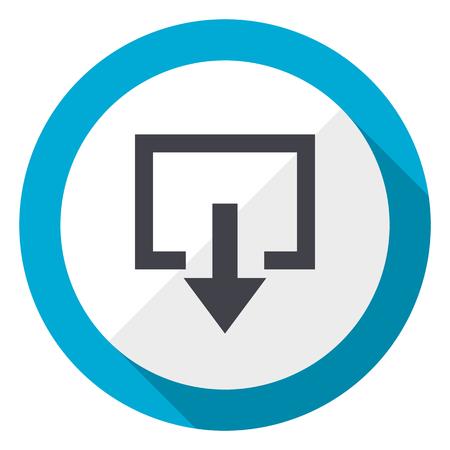 Exit blue flat design web icon
