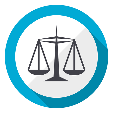 Justice blue flat design web icon Stock Photo