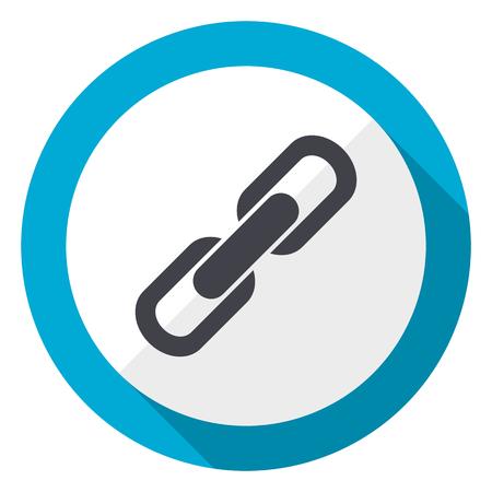 Link blue flat design web icon
