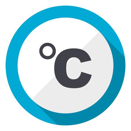 Celsius blue flat design web icon