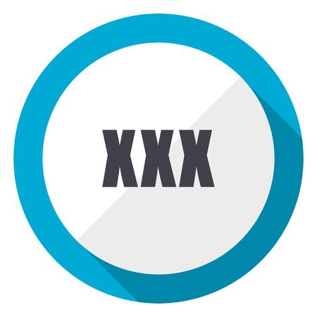 XXX blue flat design web icon Stock Photo