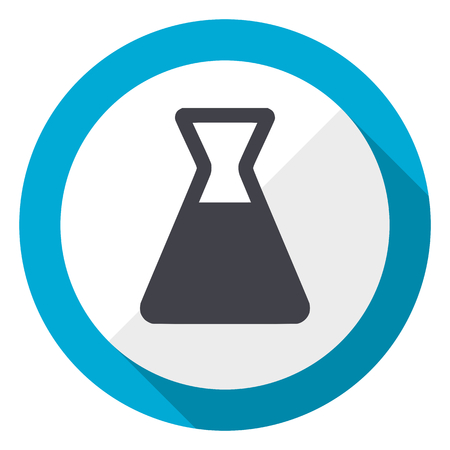 Laboratory blue flat design web icon