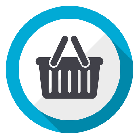 Cart blue flat design web icon Stock Photo