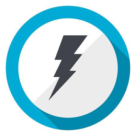 Bolt blue flat design web icon