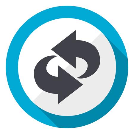 Rotation blue flat design web icon