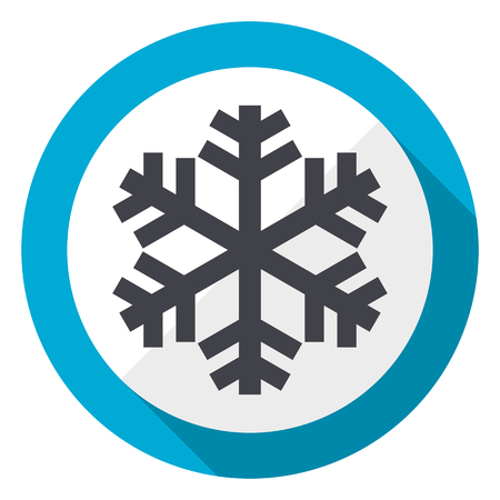 Snow blue flat design web icon