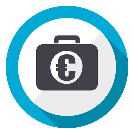 Financial blue flat design web icon
