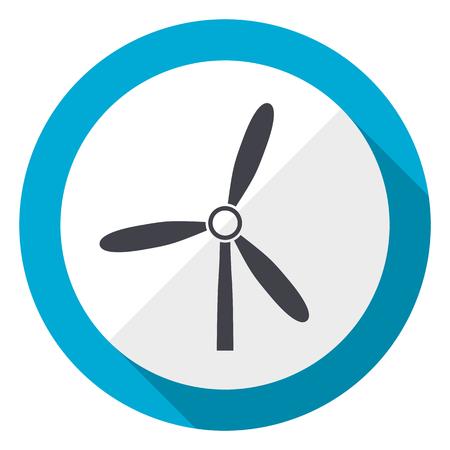 Windmill blue flat design web icon