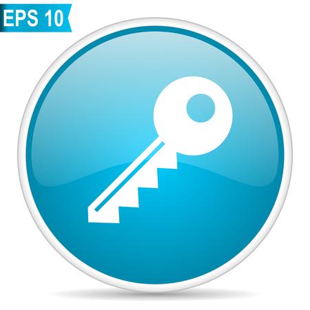 Key blue vector icon