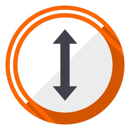 Icono de flecha naranja diseño plano vector web Foto de archivo - 97723986