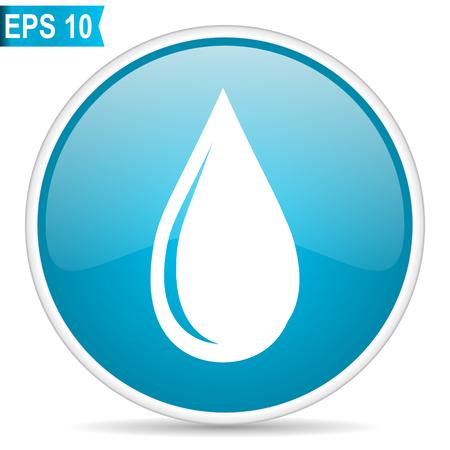 Water drop blue vector icon 일러스트