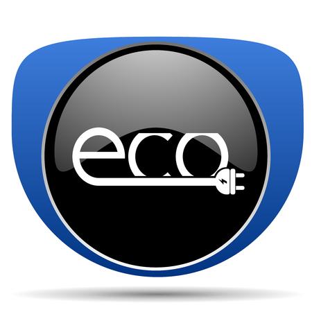Eco electric plug web icon