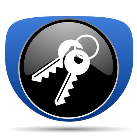 Keys web icon Stock Photo