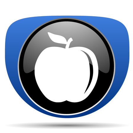 Apple web icon Stock Photo
