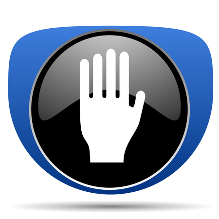 Stop web icon Stock Photo