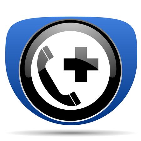 Emergency call web icon