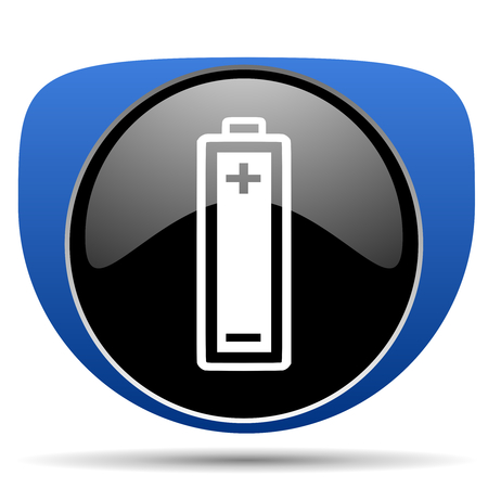 Battery web icon Banque d'images