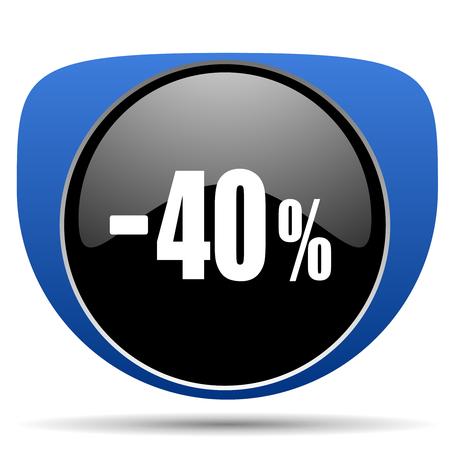 40 percent sale retail web icon