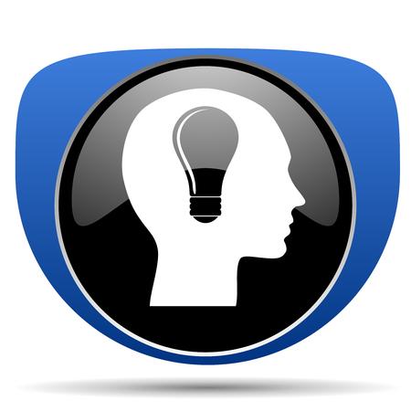 Head web icon Reklamní fotografie