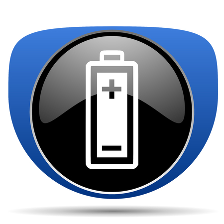 Battery web icon Stock Photo