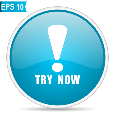 Try now blue glossy round vector icon in eps 10. Editable modern design internet button on white background. 일러스트