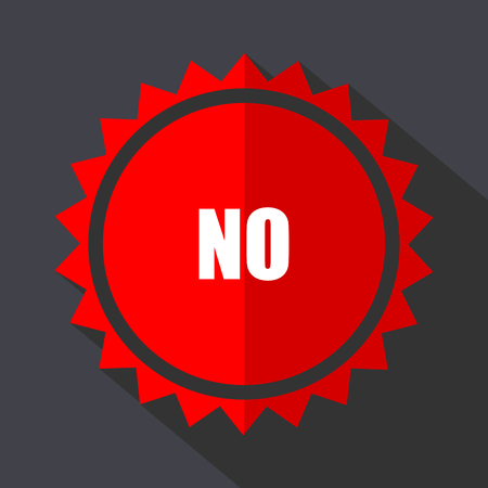 No red sticker flat design vector icon.