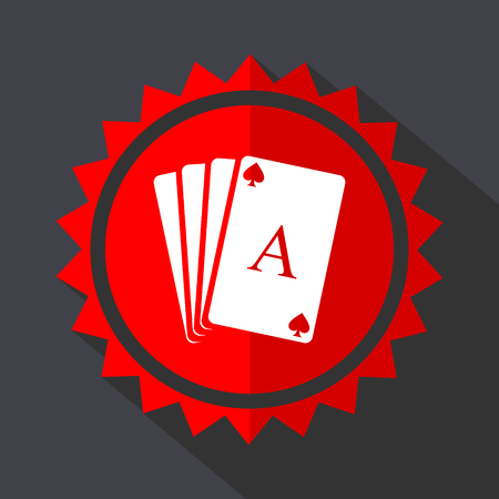 Card red sticker flat design vector icon