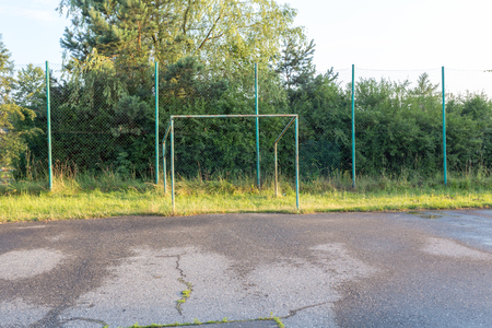 Old amateur football pitch in Poland Stockfoto - 101273239