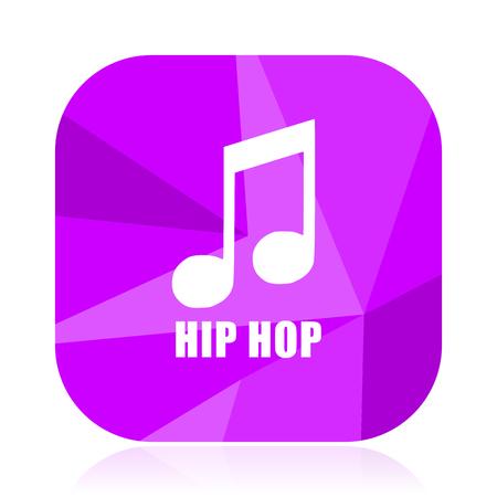 8eec32f5f29 Hip hop violet square vector web icon. Internet design and webdesign  button. Mobile application