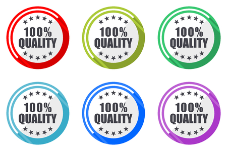 Quality vector icon set. Colorful flat design web icons on white background in eps 10.