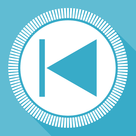 Icône vectorielle plate modifiable précédente, bouton web carré, ordinateur bleu et application pour smartphone se connecter à eps 10
