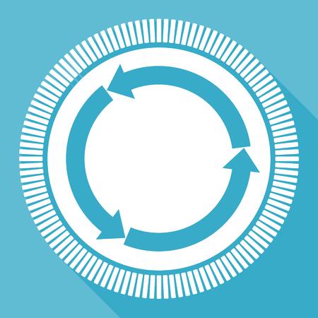Icône de vecteur plat modifiable webyellow rond bleu webyellow, bouton web carré, ordinateur bleu et application smartphone sign in eps 10 Banque d'images