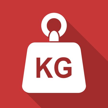 Flat design weight kg kilogram vector icon Stock Photo