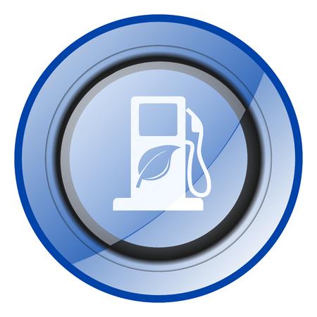 renewable biofuel ethanol blue vector icon Vector Illustration